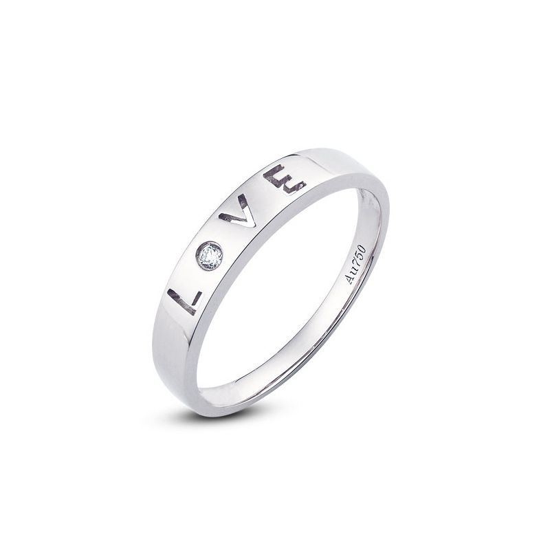 Alliance Love - Alliance homme or blanc - Diamant