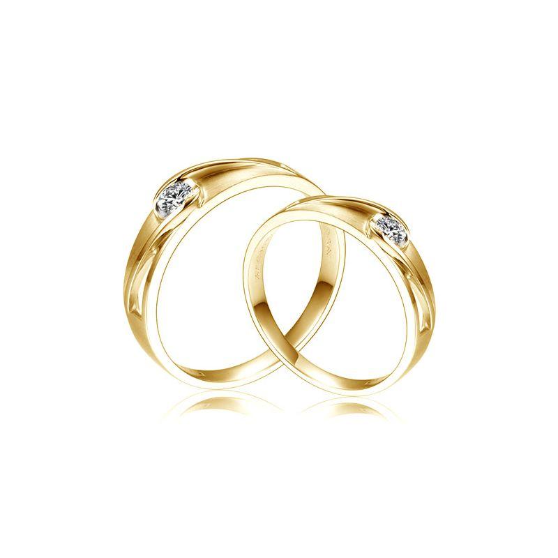 Bagues de fiançaille - Or jaune - Diamants 0.190ct