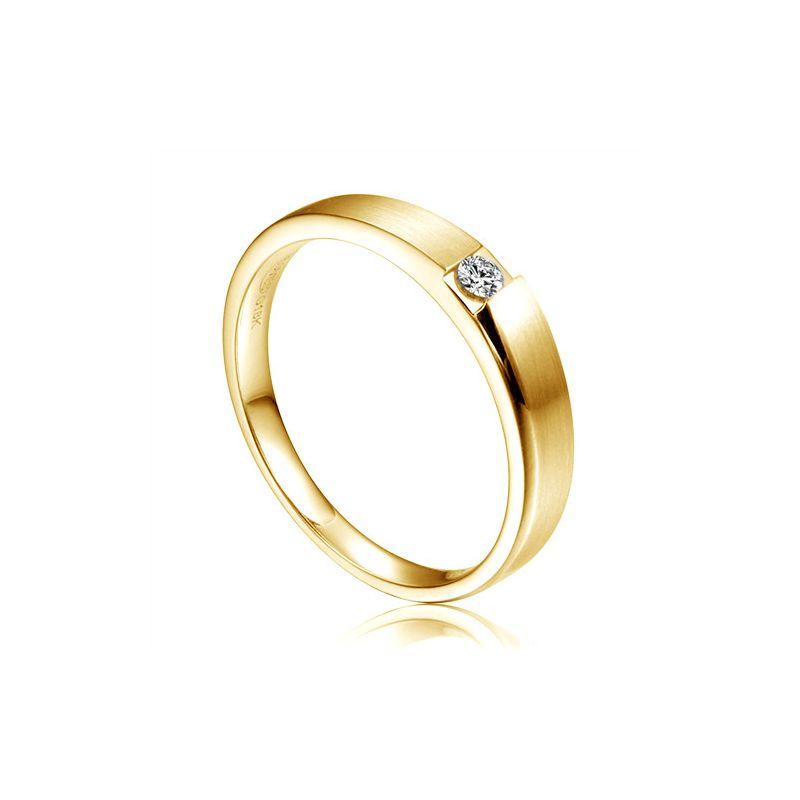 Alliance de fiançaille 2020 - Alliance pour Homme - Or jaune, diamant