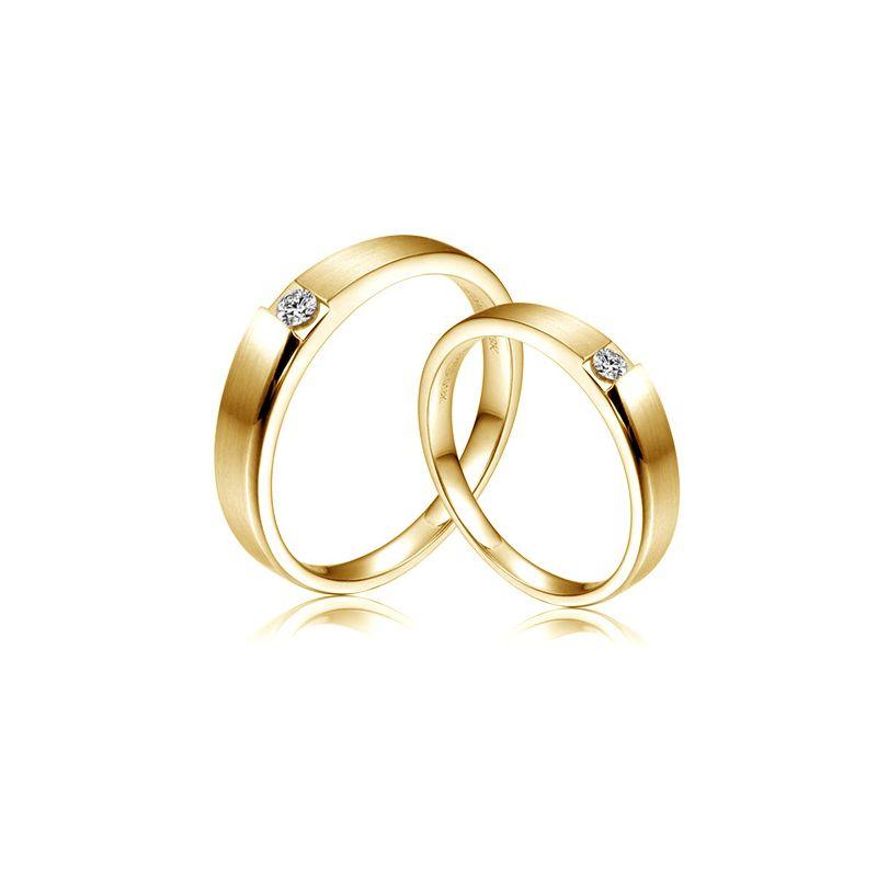 Alliances de fiançailles 2020 - Alliances Duo - Or jaune, diamants