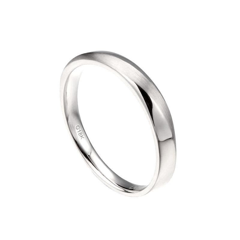 Alliance moderne Homme en Or blanc et Diamant | Ovidio