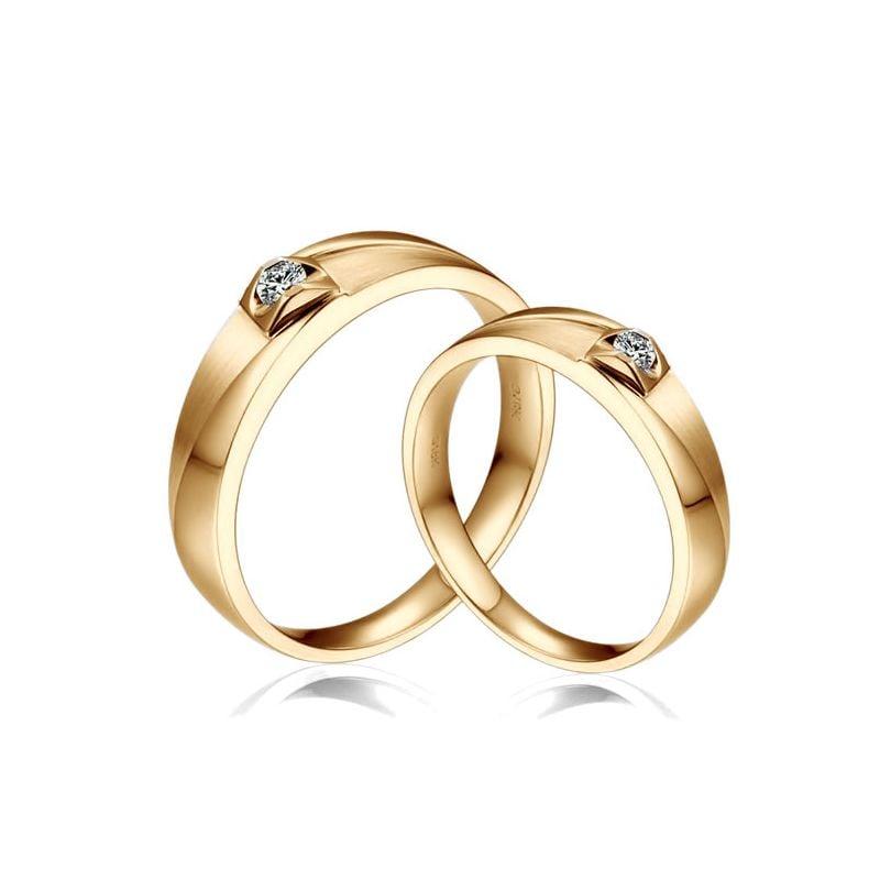 Alliances diamants or jaune - Alliances Couple | Giuliana & Renzo