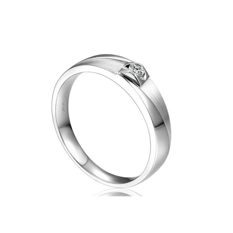 Alliance Giuliana Brossée et Polie Or Blanc, Diamant - Femme | Gemperles