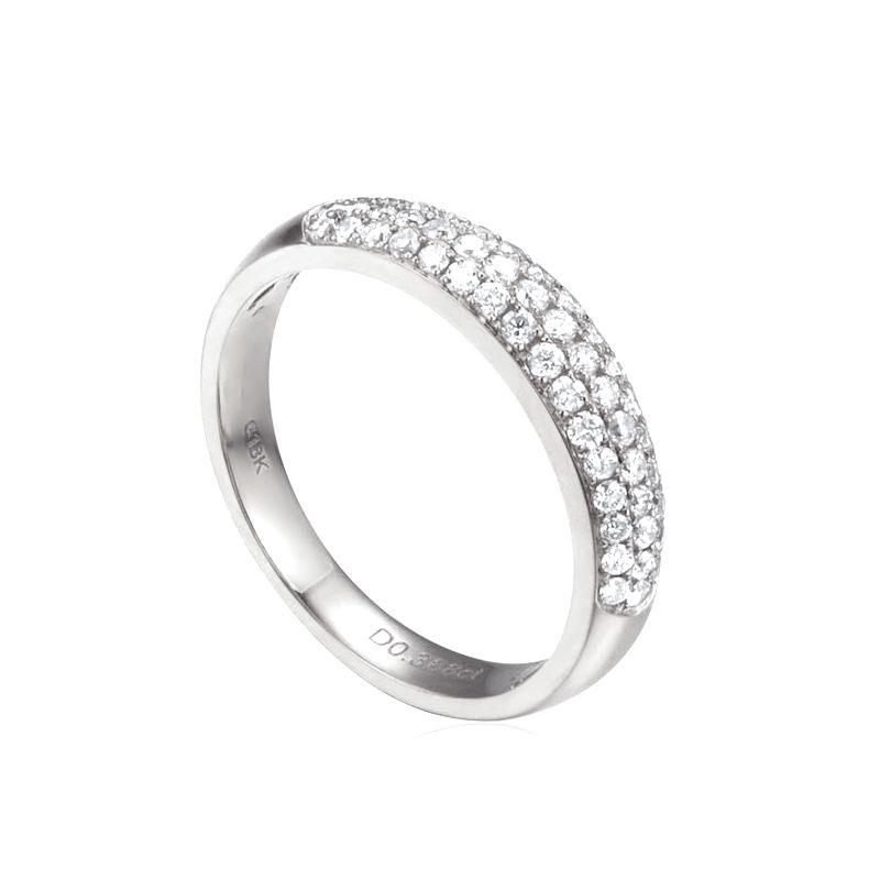 Alliance bombée Platine. 49 diamants 0.388ct | Bianca