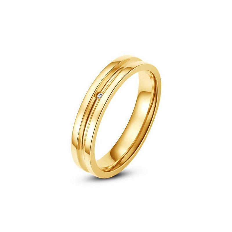Bague alliance Femme - Anneau diamant or jaune | Gaya
