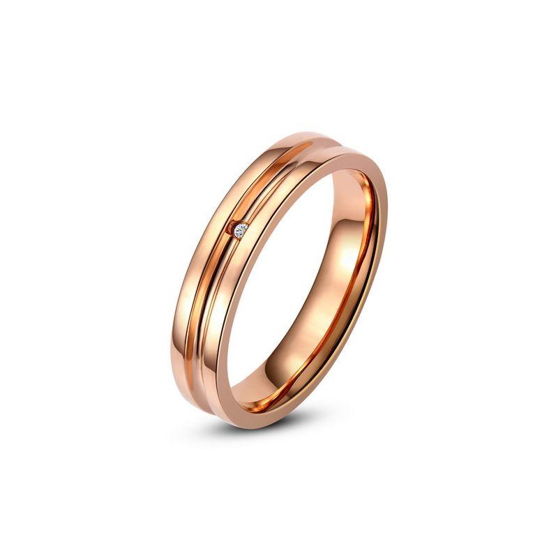 Bague alliance Femme - Anneau diamant or rose | Ana
