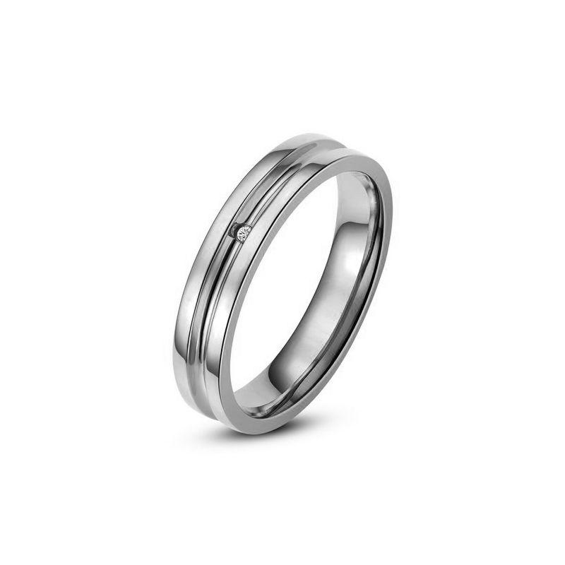 Bague alliance Homme - Anneau diamant or blanc | Carmelo
