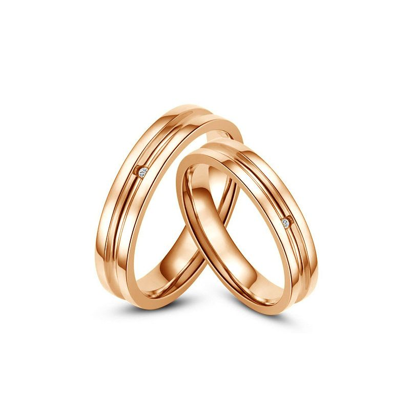 Bagues alliances Duo - Anneaux diamants or rose | Ana & Antonio