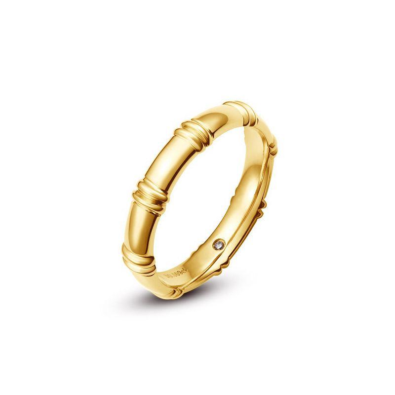 Alliance en or jaune 18 carats - Alliance diamants pour Homme | Beethoven