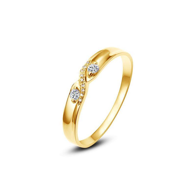 Alliance mariage diamants or jaune. Femme | Hortense
