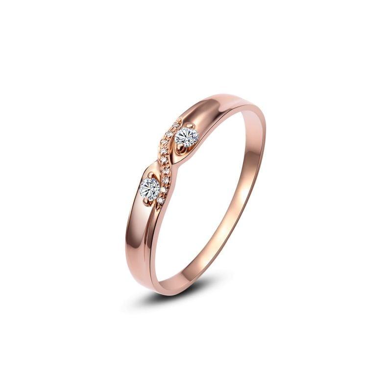Alliance mariage diamants Or rose.  Pour Homme | Roman