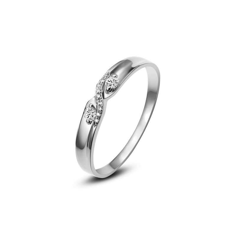 Alliance mariage diamants. En or blanc. Pour Homme | Cosmo