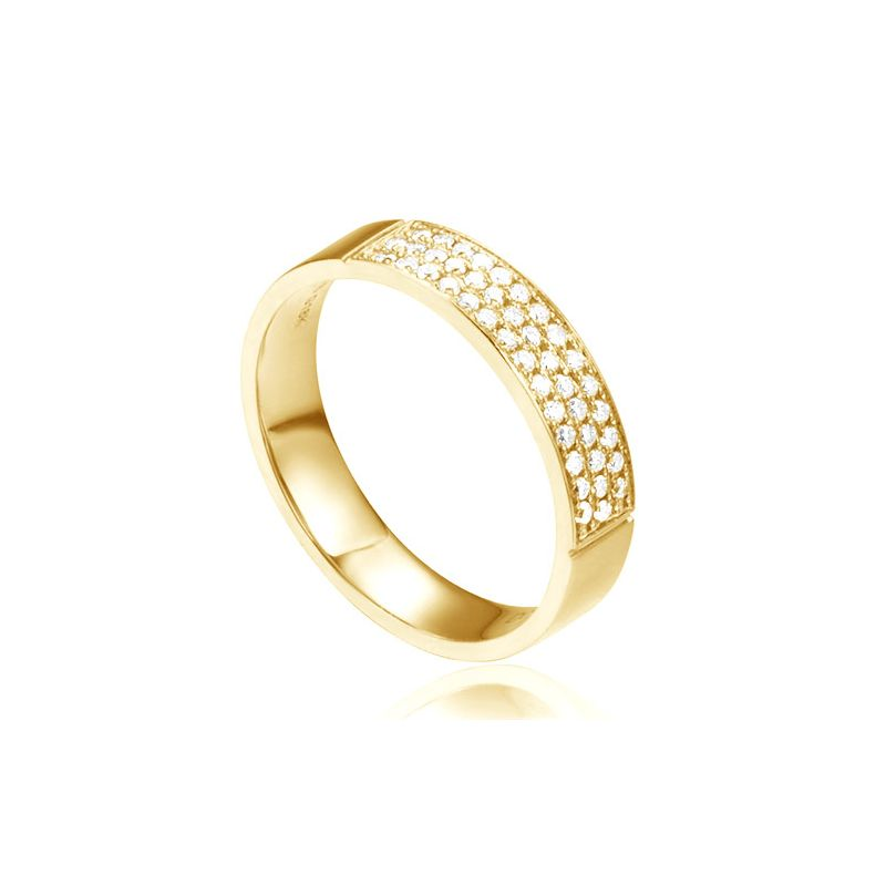 Alliance Or Jaune Narkisse - Alliance de Fiançaille en Diamant - Femme | Gemperles