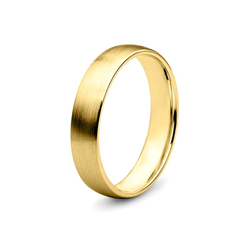 Alliance diamant or jaune - Lignes pures - Homme