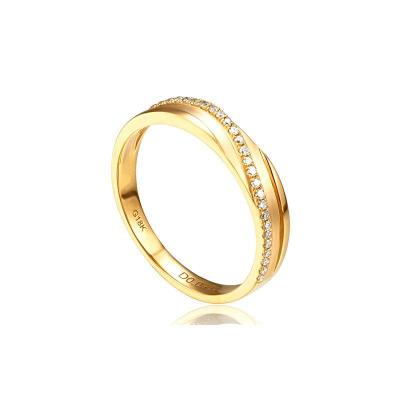 Fede Nuziale da Donna Extase - Oro Giallo e Diamanti