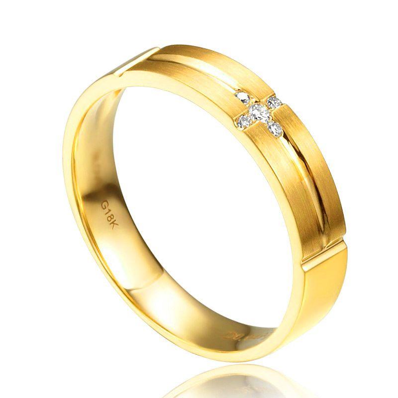 Alliance Homme. Or jaune 18 carats brossé et mate | Jules