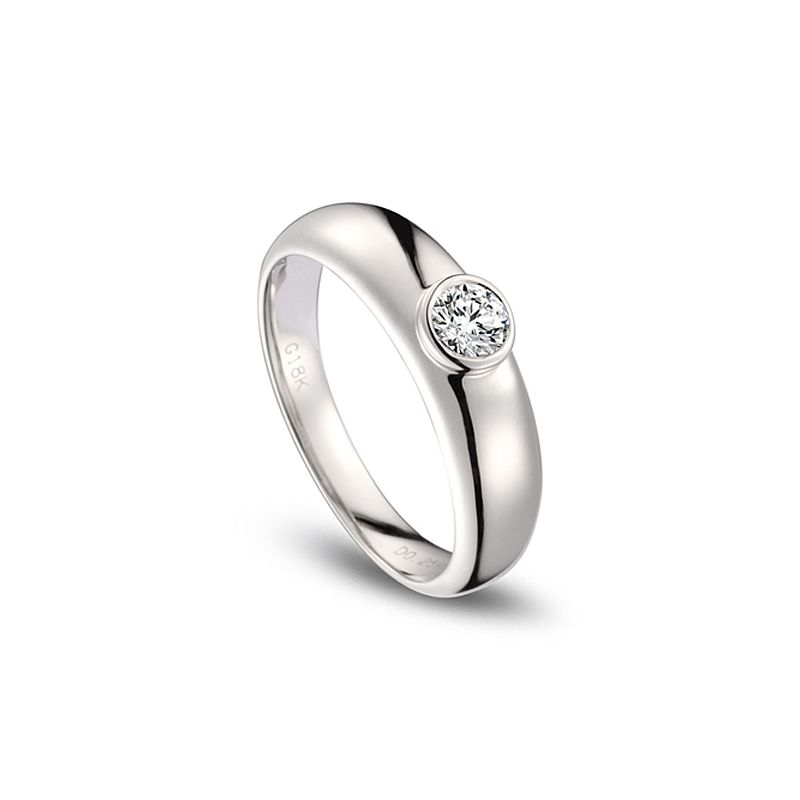 Alliance Homme. Platine. Diamant 0.30ct | Martens
