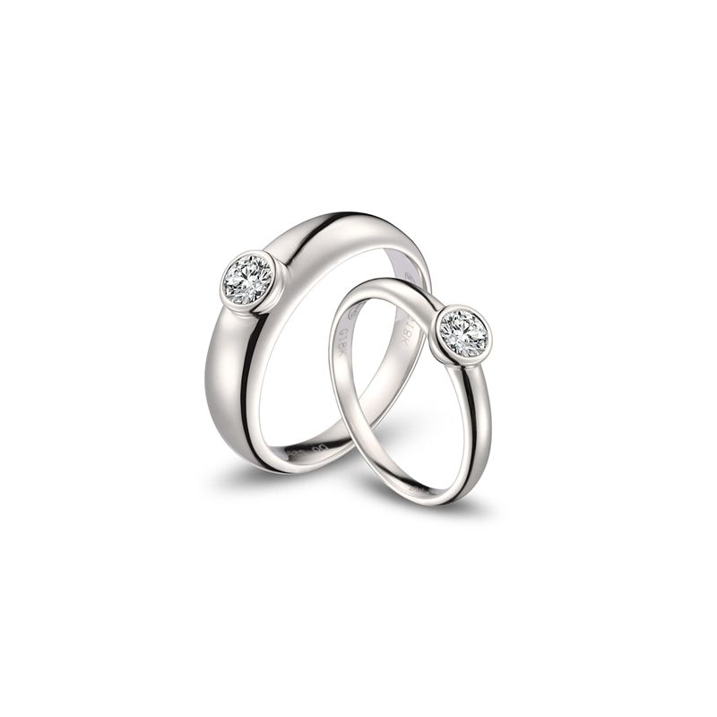 Alliances Couple. Platine. Diamants 0.60ct   Galina & Martens