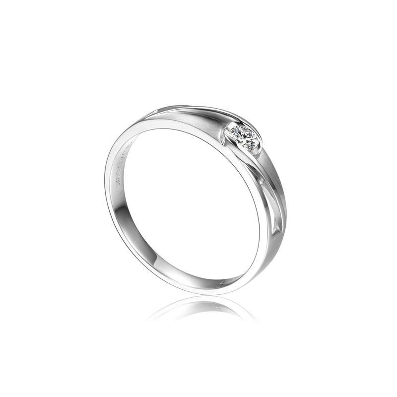 Alliance solitaire ajouré - Alliance Femme diamant platine