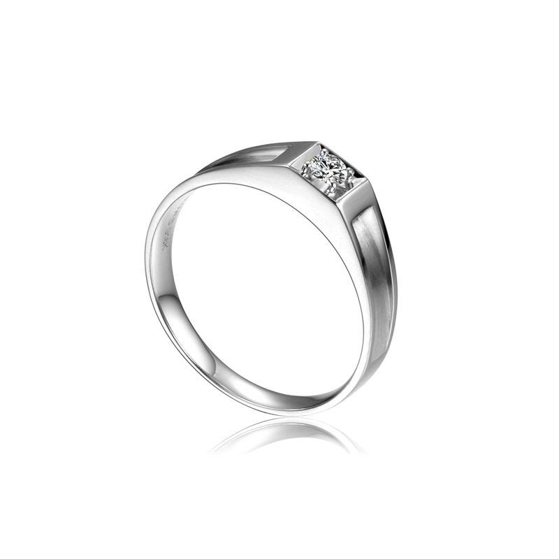 Alliance de type solitaire. Alliance Femme platine et diamant | Adina