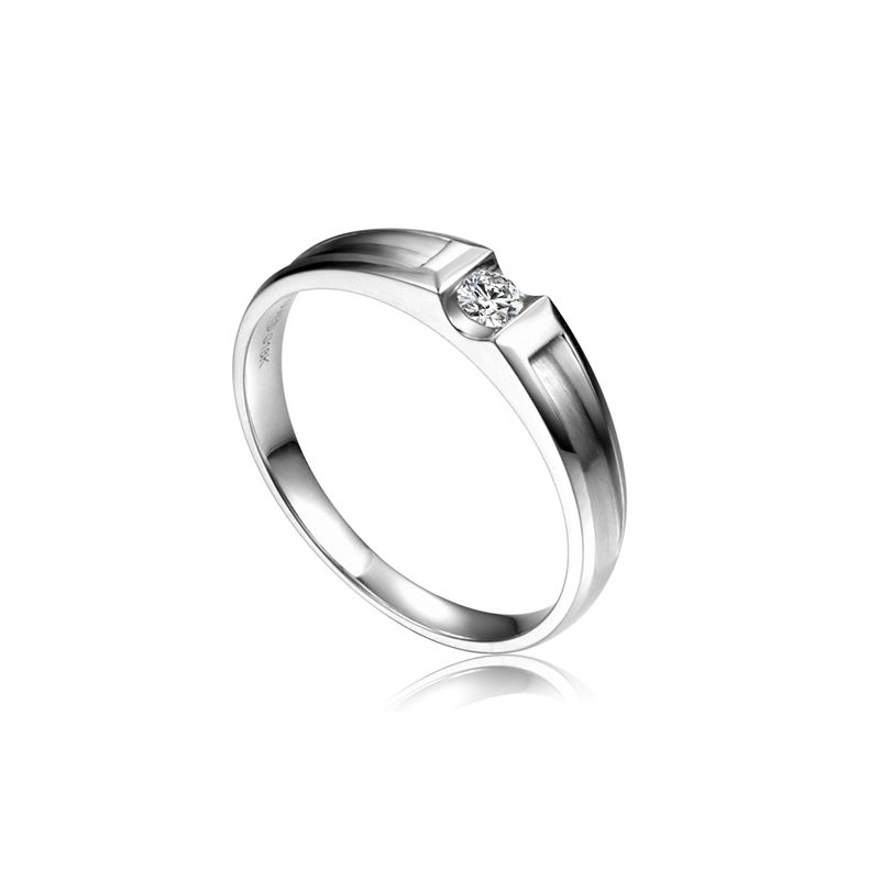 Alliance solitaire diamant -  Alliance Femme platine | Liad