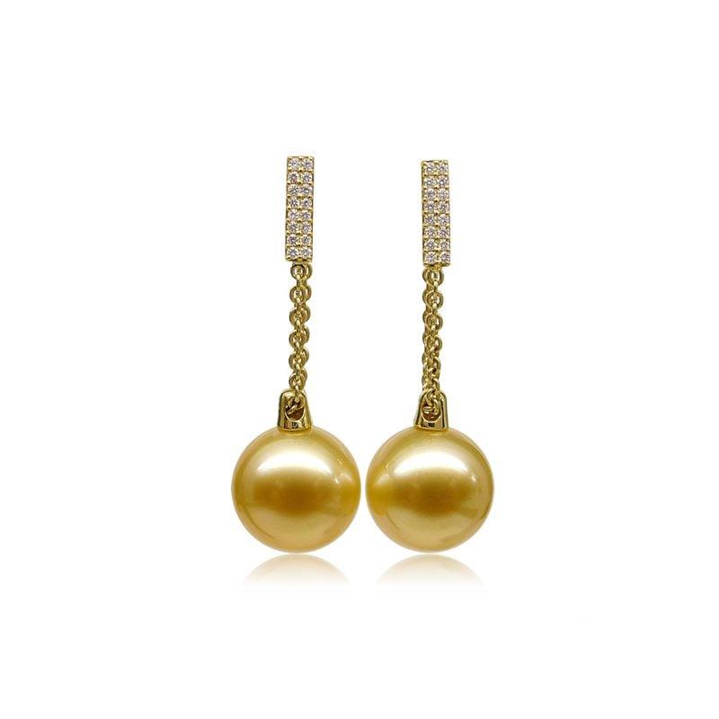 Orecchini Lady Elliot - Perle Filippine Dorate e Oro Giallo