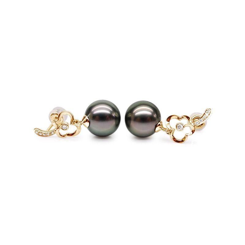 Orecchini Pendenti Ulrich - Perle di Tahiti, Oro Giallo