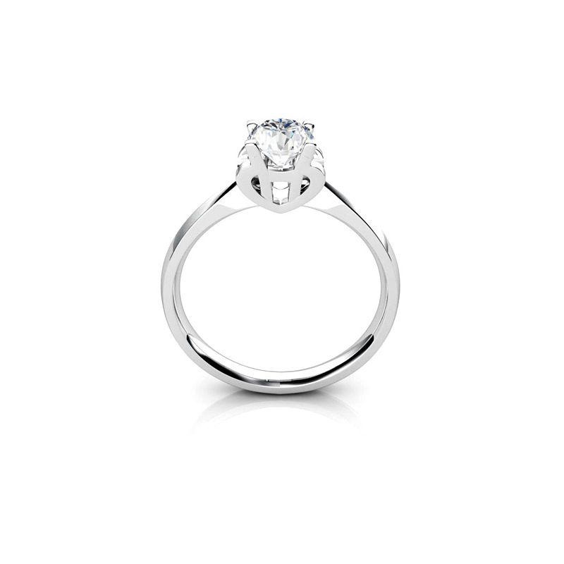 Bague prénom - Lettre H - Diamant, Or blanc   Gemperles