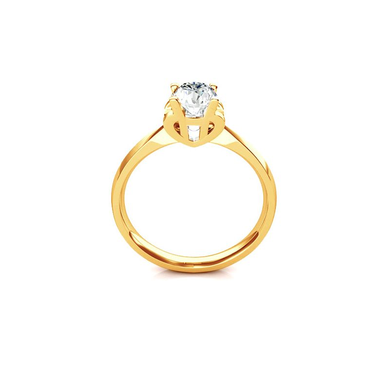 Bague prénom - Lettre H - Diamant, Or jaune   Gemperles
