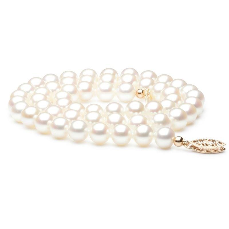 Collier mariage I Perle de culture d'eau douce blanche I 6.5/7mm, AAA