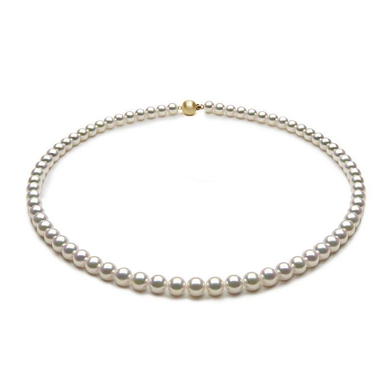 Collana di Perle Akoya Musashi - Giapponesi Bianche - 5.5/6mm, AAA | Gemperles