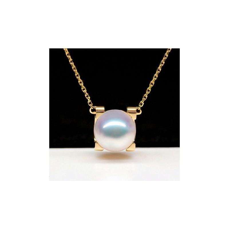 Ciondolo Morita, perla Akoya giapponese e Oro Giallo 18ct
