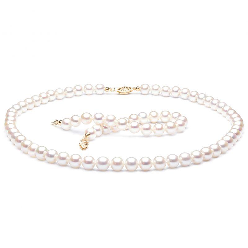 Parure perles culture - Collier, bracelet perles eau douce - 7/7.5mm