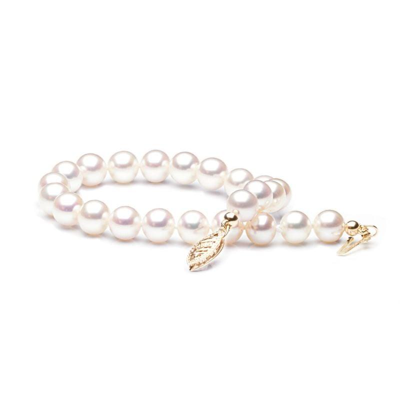 Bracelet avec perle blanche de culture eau douce Chine 6.5/7mm