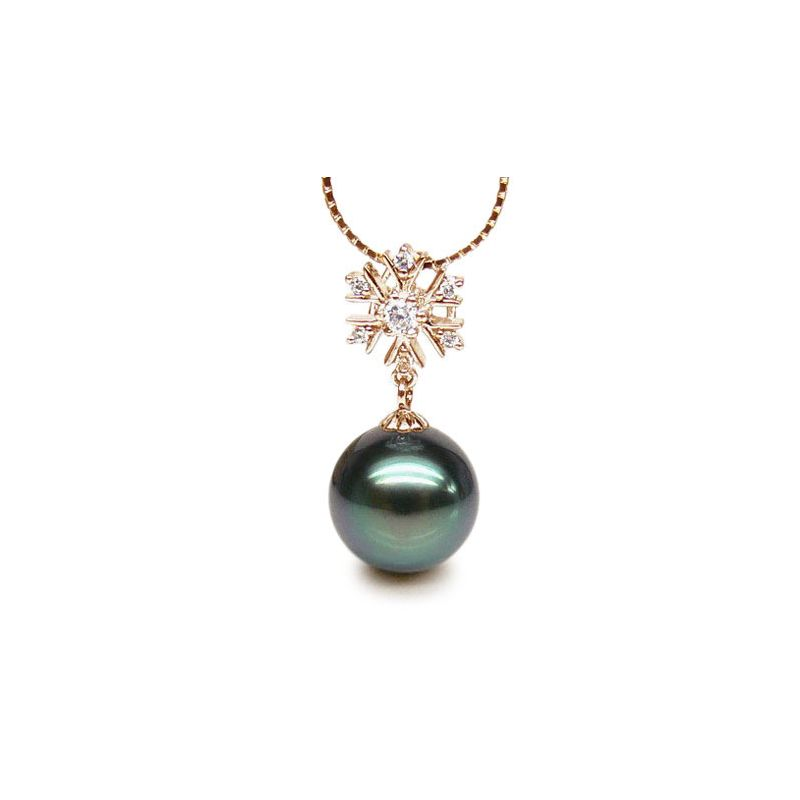 Ciondolo Sainte Hélène - Oro Giallo, Diamanti e Perla di Tahiti