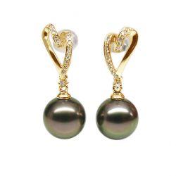 Boucles oreilles perles de Tahiti