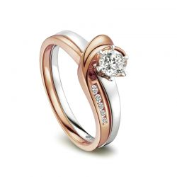 Bague solitaire 2 ors diamants