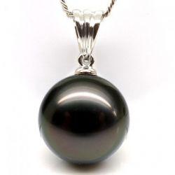 Pendentif perle noire tahiti Or blanc